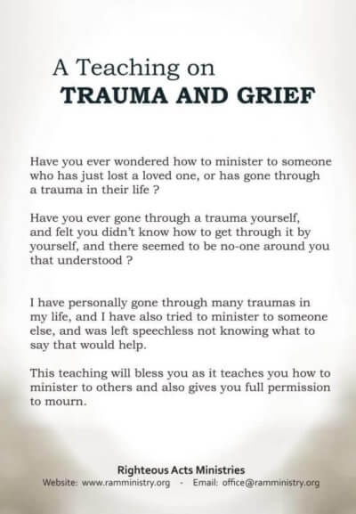 A Teaching on Trauma & Grief DVD back