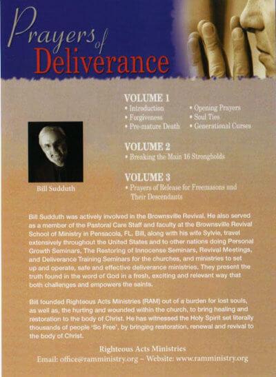 Prayers of Deliverance CD set back