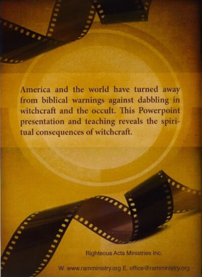 Witchcraft exposed DVD back